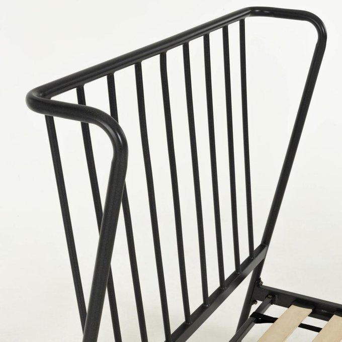 Кровать Narlu графитового цвета 90x200