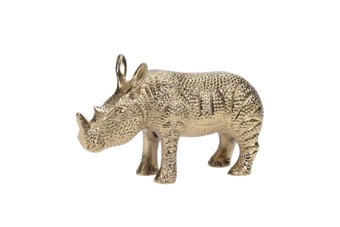 Статуэтка Носорог золотого цвета
