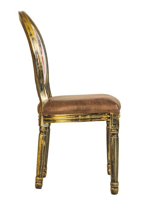 Стул Volker golden cat с каркасом золотого цвета
