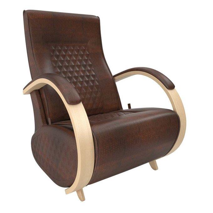 Кресло-глайдер для отдыха Balance-3 с накладками AntikCrocodile/natderevo