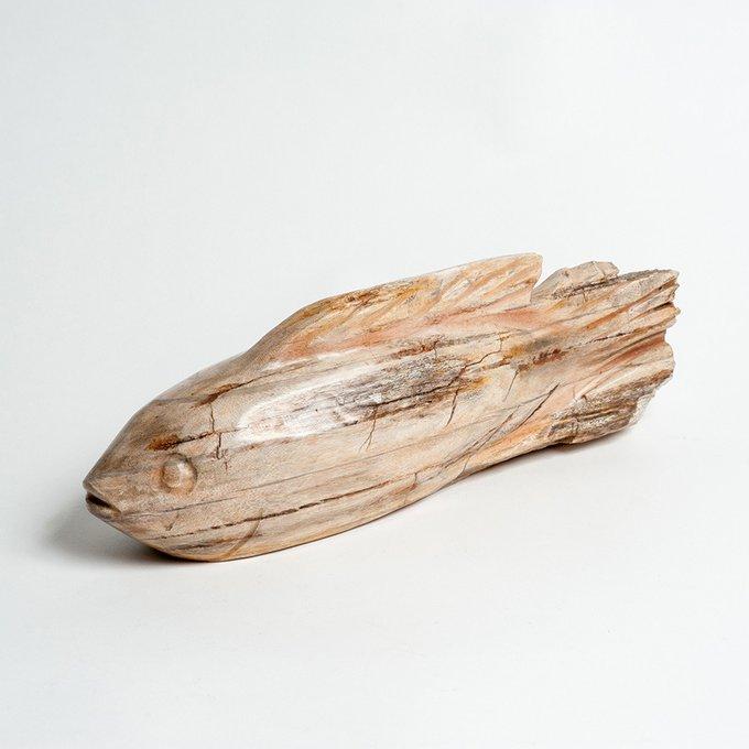 Декоративная рыба Fish из окаменелого дерева