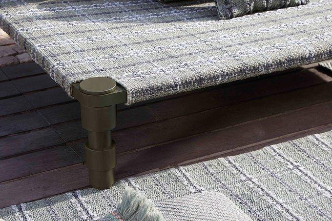 Двухспальная кровать Gan Gofre green зеленого цвета