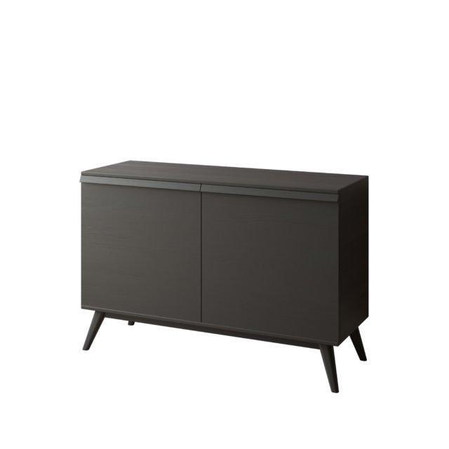 Комод LINA-5 100х50 с распашными дверцами черного цвета