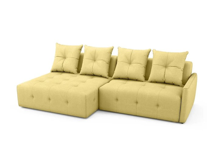 Угловой Диван-кровать Bronks желтого цвета