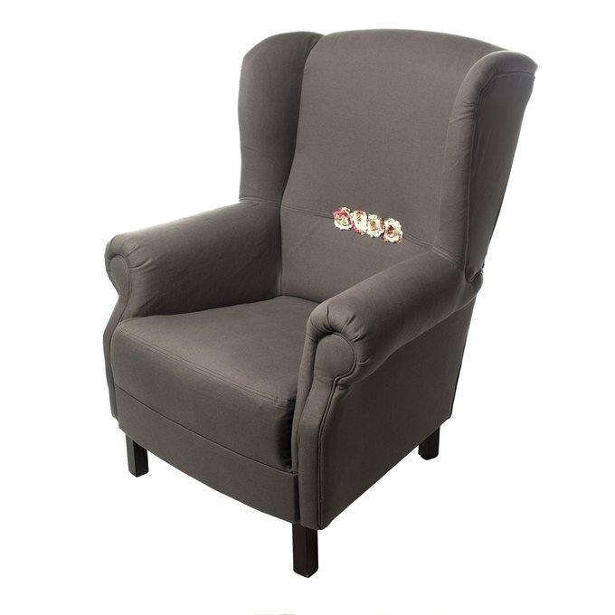 Кресло Розы Прованса серого цвета