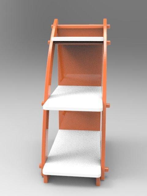 Стеллаж Парус оранжевого цвета
