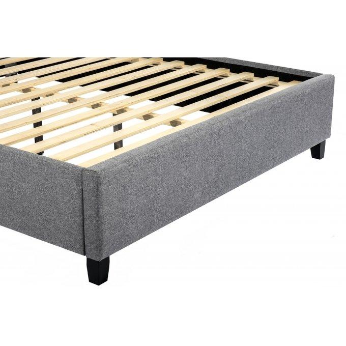 Кровать двуспальная Ameli 160х200 серого цвета