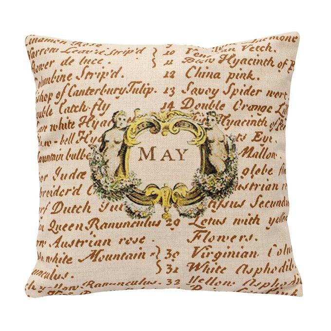 Декоративная подушка «12 месяцев цветения»