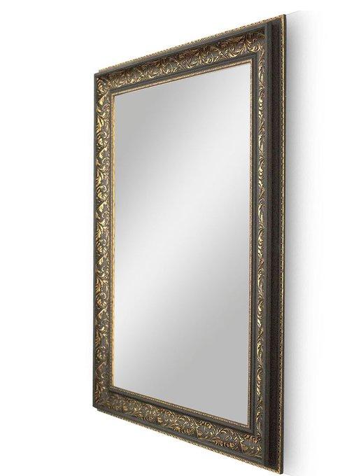 """Зеркало большое в позолоченной черной раме """"Довиль"""""""