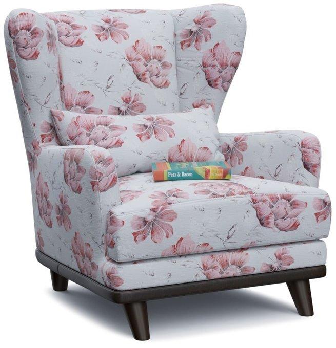 Кресло Роберт Корал на деревянных ножках