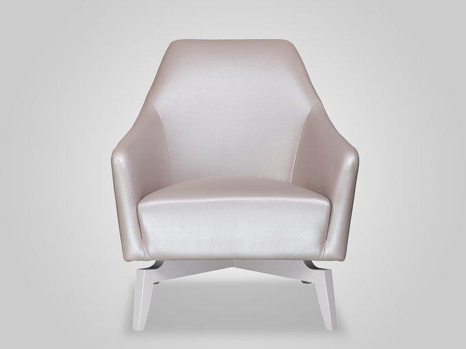 Кресло Celine серебристого цвета