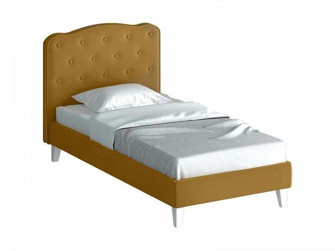 Кровать Candy бежевого-коричневого цвета 80х160