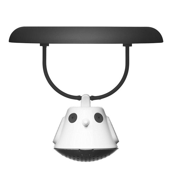 Емкость для заваривания чая с крышкой birdie swing чёрная