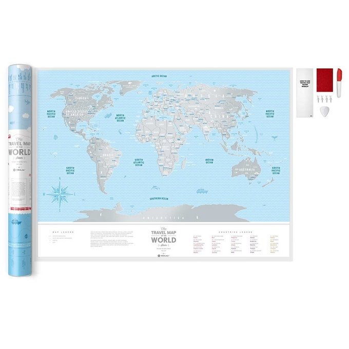 Карта travel map silver world