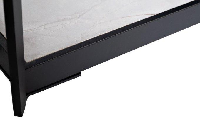 Тумба под телевизор с керамической вставкой