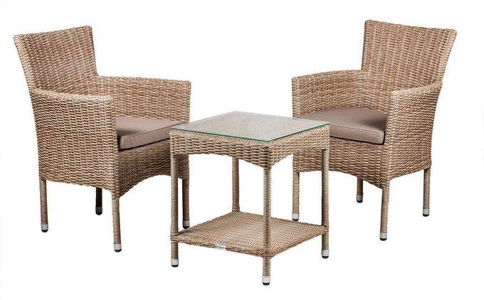 Кофейный столик Howard из искусственного ротанга натурального цвета