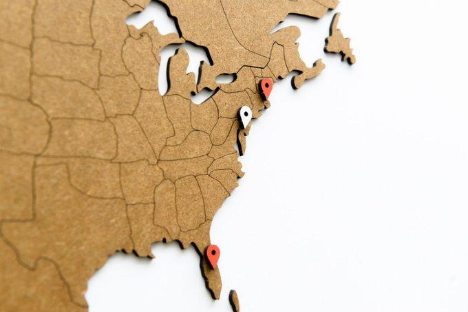 Карта мира Wall Decoration коричневая из МДФ