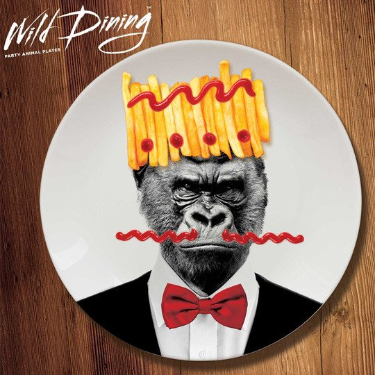 Тарелка 'Wild Dining' (разные дизайны) / Gorilla