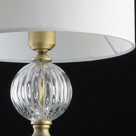 Классическая настольная лампа Оделия 1 на круглом основании