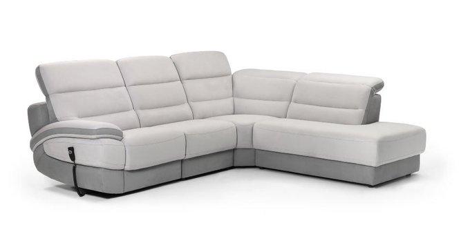 Угловой диван Balmoral серо-белого цвета
