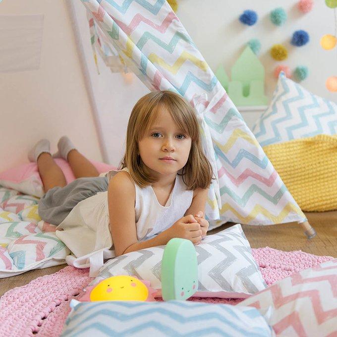 Наволочка для декоративной подушки Pink Zigzag