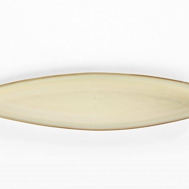 Большая глиняная тарелка для хлеба Tide кремового цвета