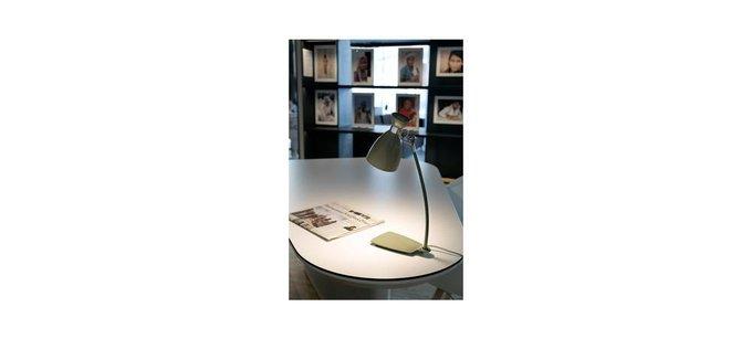 Настольная лампа Faro Retro зеленая из металла