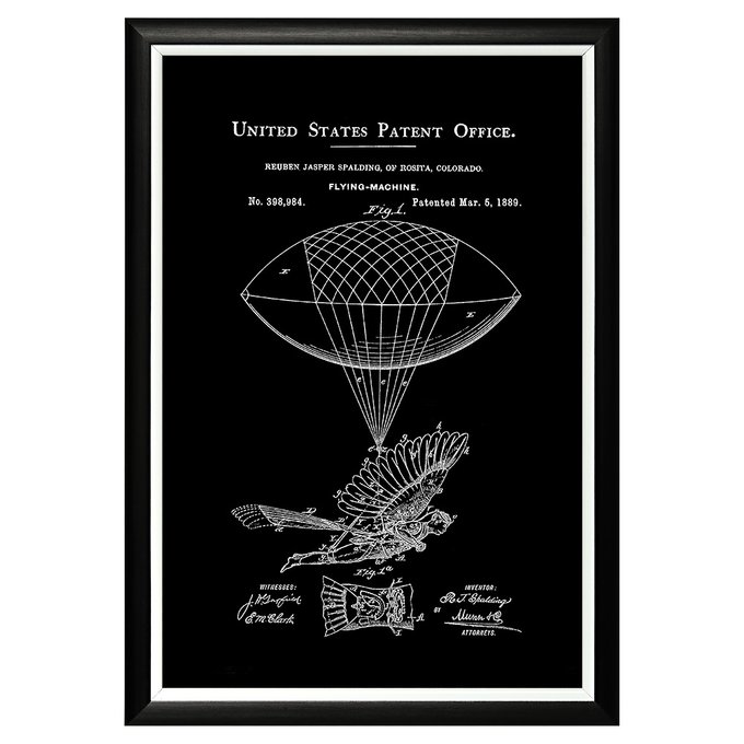 Арт-постер Патент на летательный аппарат