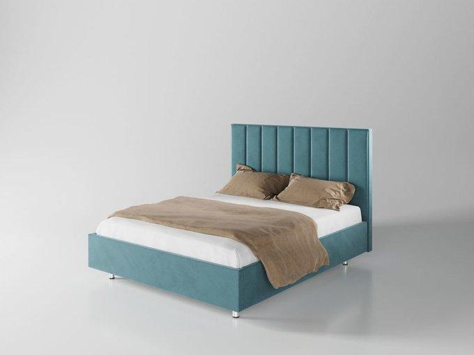 Кровать Параллель 200х200 цвет морской волны