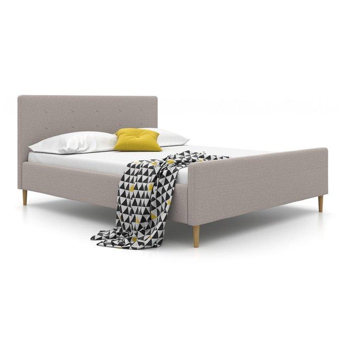 Кровать Scandi на ножках серого цвета 140х200