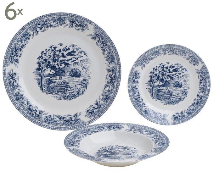 Набор тарелок из восемнадцати предметов