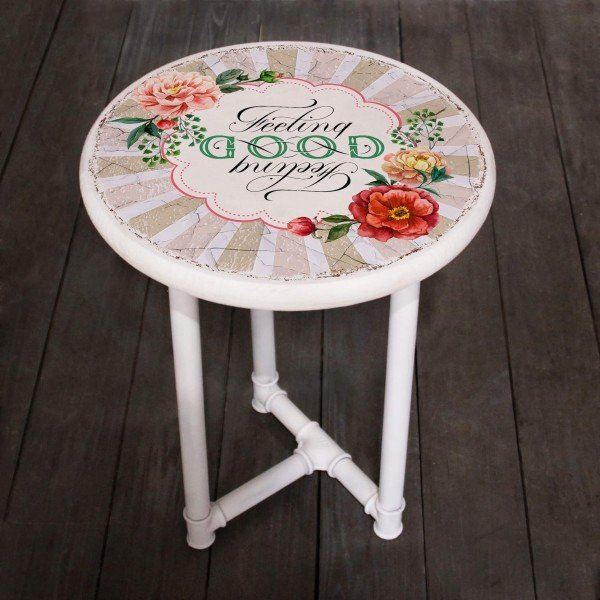 Прикроватный кофейный столик Good с металлическим каркасом