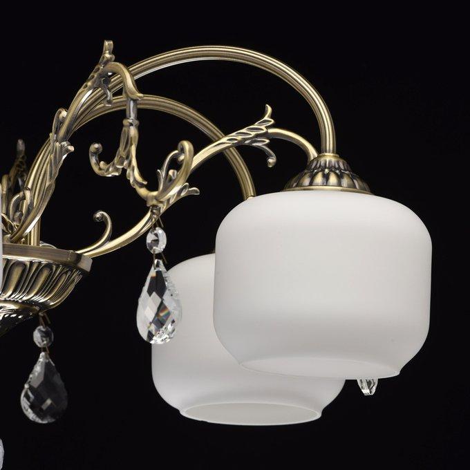 Потолочная люстра Моника с белыми плафонами