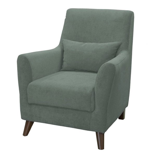 Кресло Либерти серо-зеленого цвета