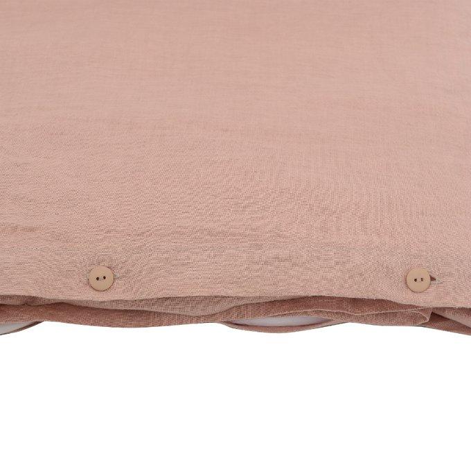 Пододеяльник изо льна цвета пыльной розы 150x220