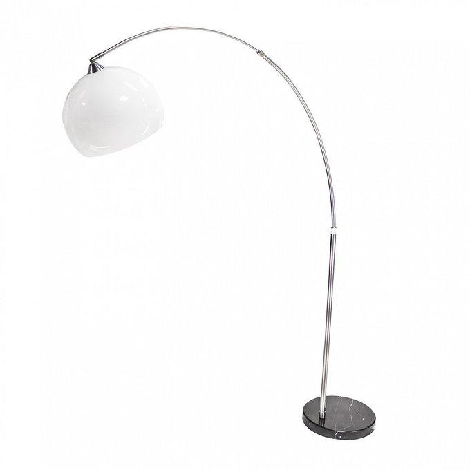 Напольная лампа Stardust с плафоном белого цвета
