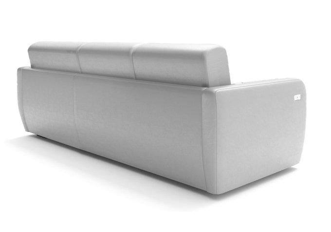 Угловой диван-кровать серого цвета