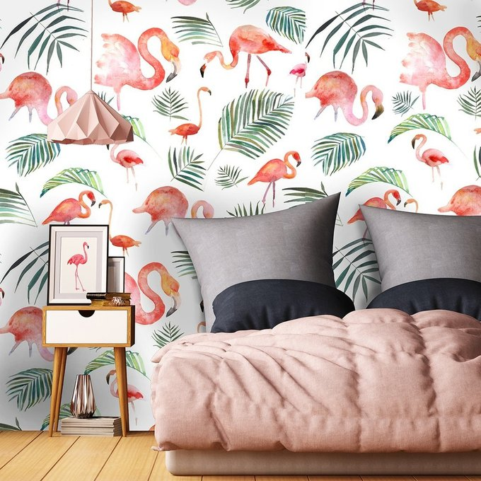 Обои Фламинго на флизелиновой основе