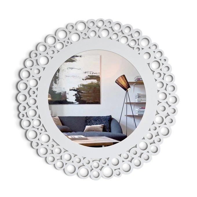 Настенное Зеркало Como белого цвета
