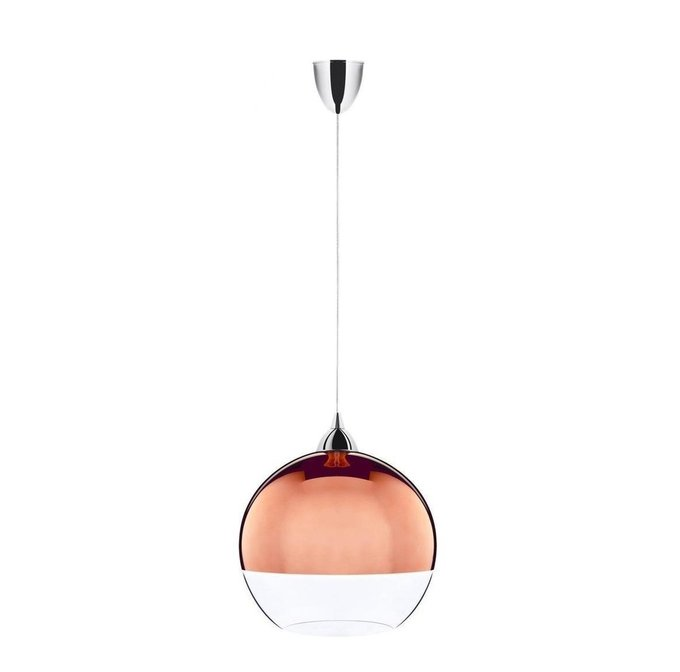 Подвесной светильник Globe Copper с плафоном из стекла