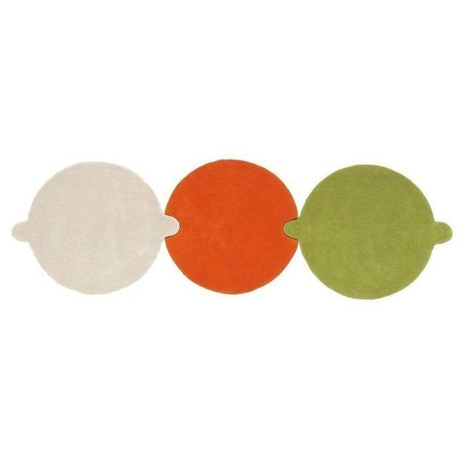 Круглый ковер Necklace разноцветный 100 см