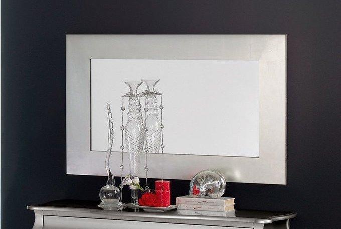Зеркало прямоугольное цвета серебряный антик