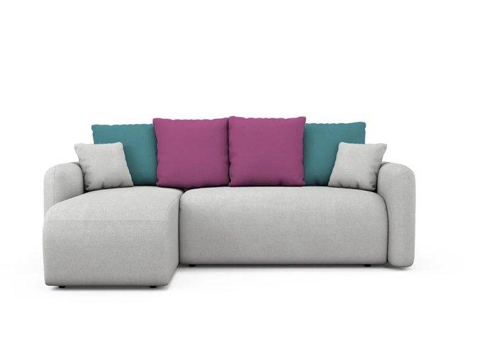 Угловой Диван-кровать Arti  левый светло-серого цвета