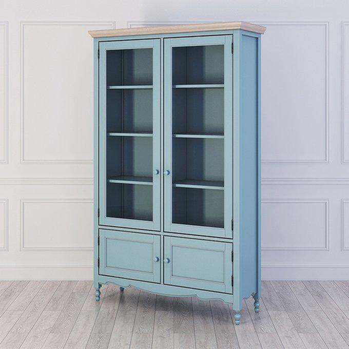Библиотека Leblanc голубого цвета