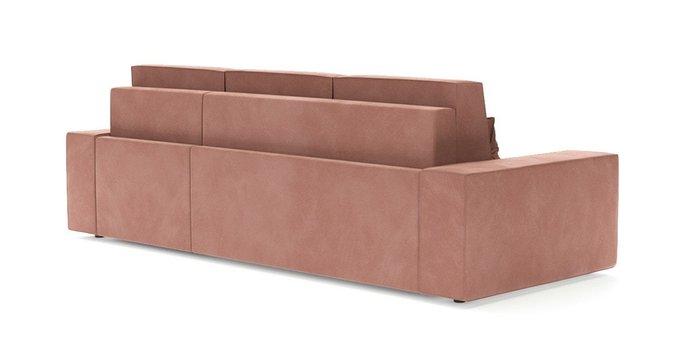 Угловой диван-кровать Модесто розового цвета