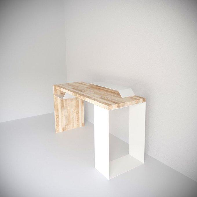 Рабочий стол  EcoComb-2 ясень белый