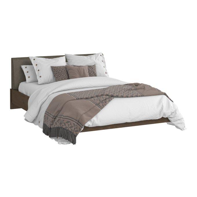 Кровать Сиена 140х200 с серым изголовьем