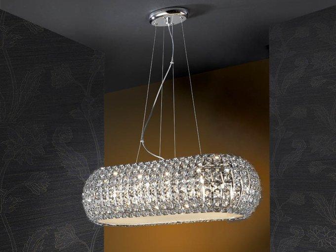 Подвесная люстра Schuller Diamond из прозрачного стекла