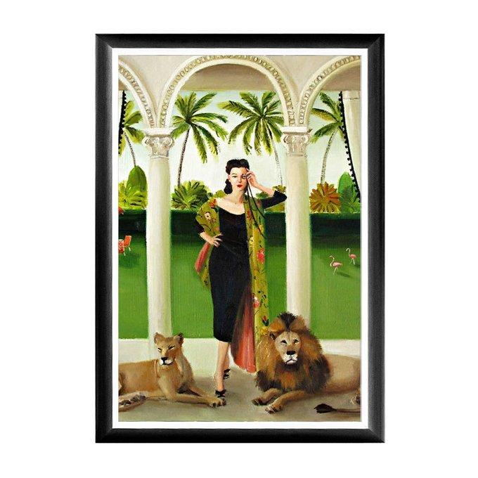 Арт-постер Светская львица  в раме из полистирола