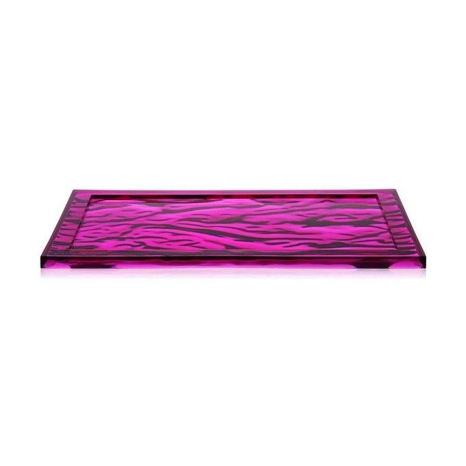 Поднос Dune пурпурного цвета